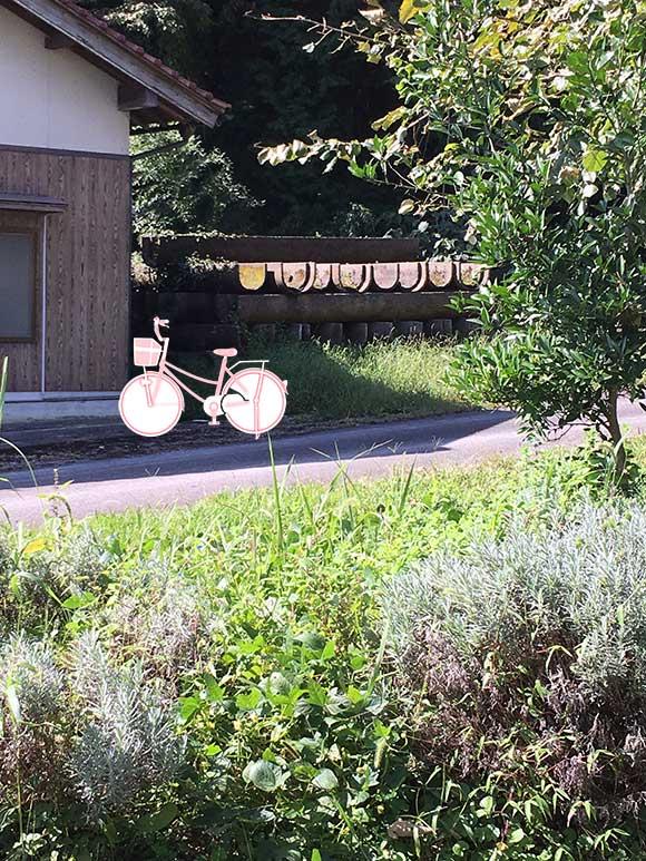 山菜おじさんの自転車